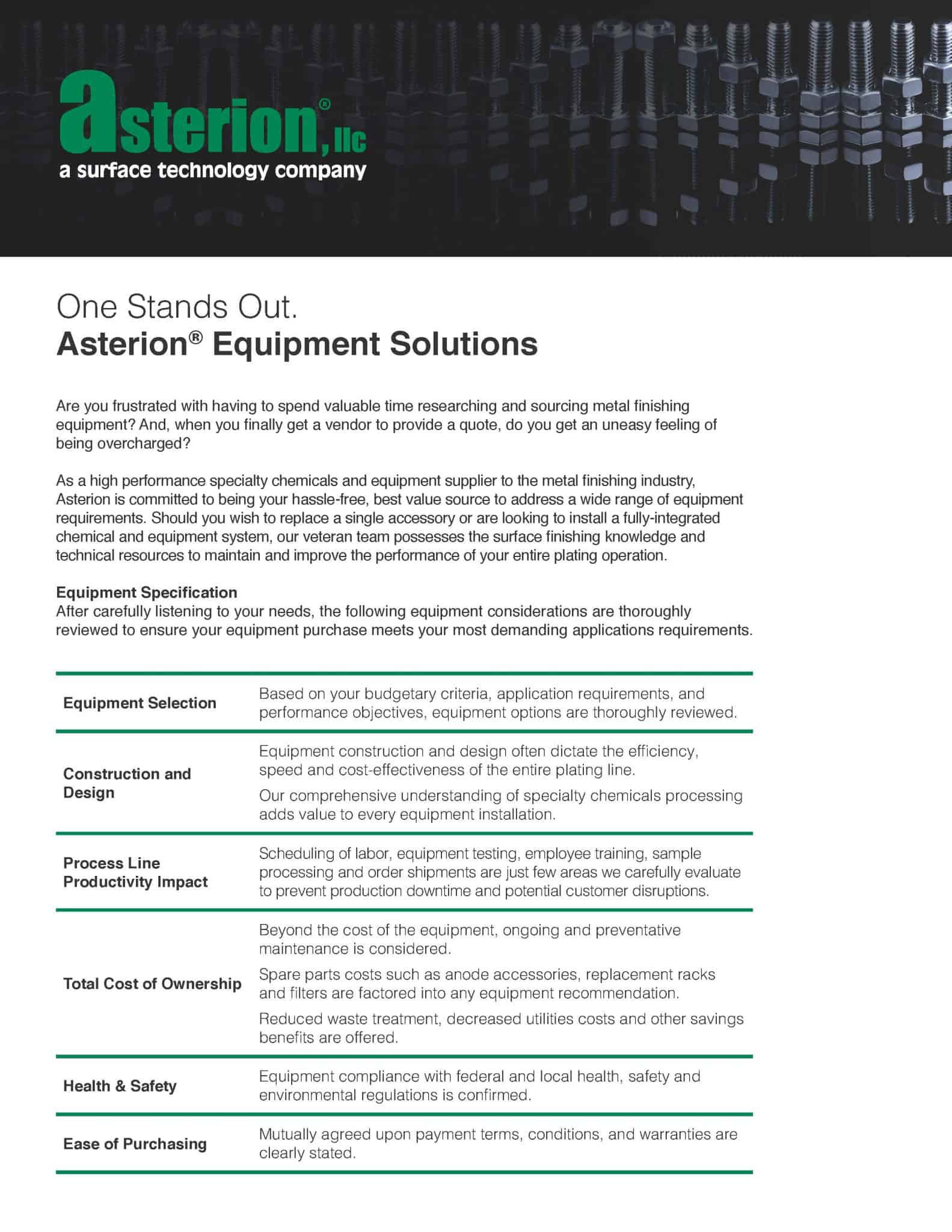 Asterion Publishes Equipment Capabilities Guide | Specialty ... on cost effecient, cost free, cost efficiency, cost of smoking, cost icon, cost reduction, cost quality, cost analysis, cost management,